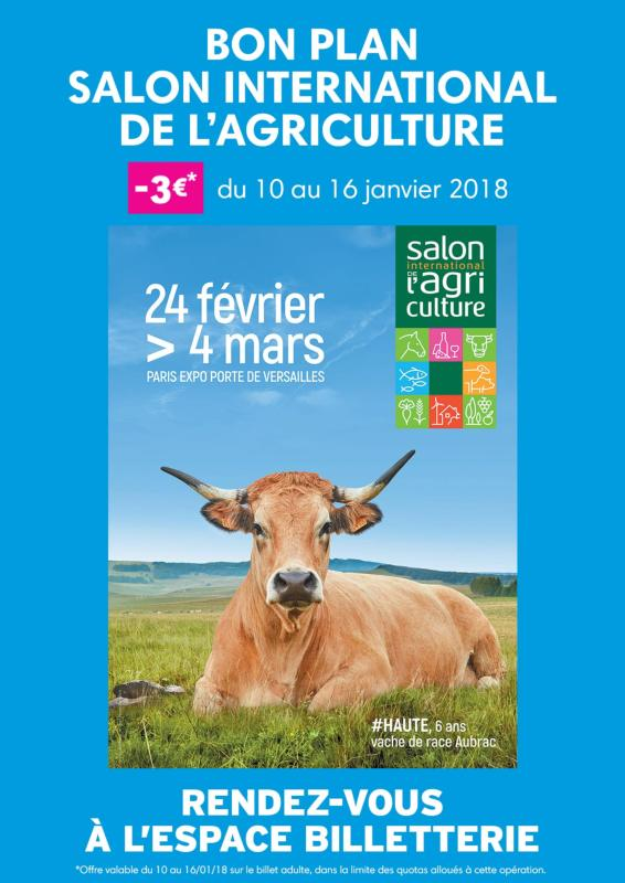 Salon de l 39 agriculture paris 75 partenaire un comit for Billet salon de l agriculture